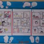 帰国子女クラスの一つで、アメリカ英語とイギリス英語の違いを勉強しました。 言い回しや発音、単語の意味の違いから起こる誤解をコミック仕立てにまとめてみました。 エクステンションクラスは、生徒自身でテーマを決めて学習を進めるプロジェクトスタディ形式でレッスンを行います。 考える力、リサーチ力、プレゼンスキルなど様々なことを英語で身につけていきます。