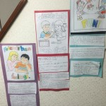 英語でPersonal Developmentの学習  自分の内面を見つめなおす時間、他者との関わりを考える時間だったりします。  Friendshipについて英語でブレスト(ブレインストーミング)をし、友達ってどんな人?どんな関係が好ましい?友達がいて嬉しいことは?など考えたこの日は、生徒それぞれがポスターを作り、今もイングリッシュスタジオの壁に貼られてします。他の子どもたちも目にすることができるのでそれぞれに感じることがあればいいなと思います。