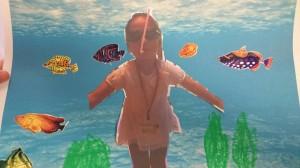 underwater collage